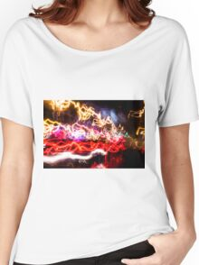 Lightpainting Single Wall Art Print Photograph 10 Women's Relaxed Fit T-Shirt