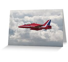 Red Arrows - H.S. Hawk Greeting Card