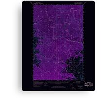 USGS Topo Map Washington State WA Loup Loup 242078 1956 62500 Inverted Canvas Print