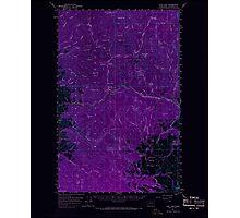 USGS Topo Map Washington State WA Loup Loup 242078 1956 62500 Inverted Photographic Print