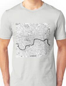 London Map Gray Unisex T-Shirt