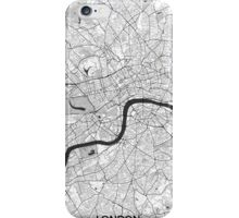 London Map Gray iPhone Case/Skin