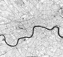 London Map Gray by HubertRoguski