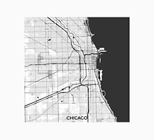 Chicago Map Gray Unisex T-Shirt
