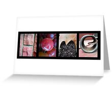 Home Alphabet Letter Photography Greeting Card
