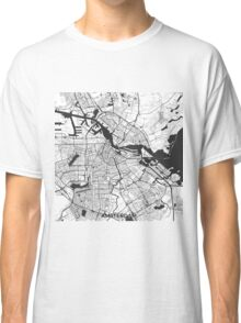Amsterdam Map Gray Classic T-Shirt