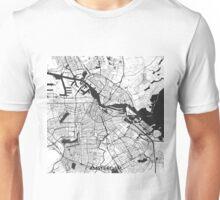 Amsterdam Map Gray Unisex T-Shirt