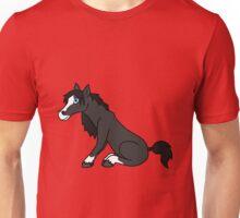 Black Horse with Blaze Unisex T-Shirt