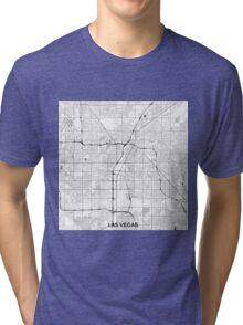 Las Vegas Map Gray Tri-blend T-Shirt