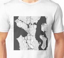 Seattle Map Gray Unisex T-Shirt