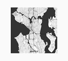 Seattle Map Gray Unisex T-Shirt