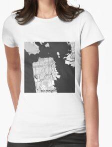 San Francisco Map Gray T-Shirt