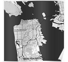 San Francisco Map Gray Poster