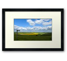 South Downs Panorama Framed Print