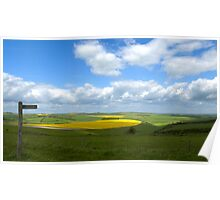 South Downs Panorama Poster