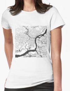 Philadelphia Map Gray T-Shirt