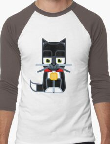 Cut kitty cat black Men's Baseball ¾ T-Shirt