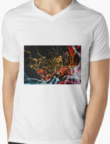 Lightpainting Single Wall Art Print Photograph 14 Mens V-Neck T-Shirt