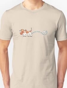 Basset Hound :: Places to Go People to Sniff Unisex T-Shirt