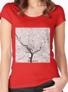 Washington Map Gray Women's Fitted Scoop T-Shirt