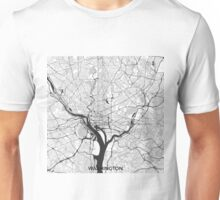 Washington Map Gray Unisex T-Shirt