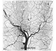 Washington Map Gray Poster
