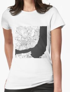 Lisbon Map Gray T-Shirt