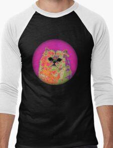 Psychedelic Cat II Men's Baseball ¾ T-Shirt