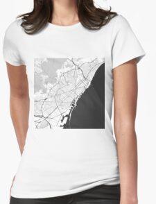 Barcelona Map Gray T-Shirt