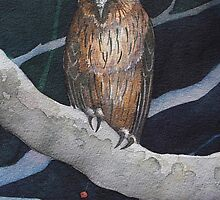 Buffy Fish Owl by Andrea Gabriel