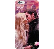 Captain Swan Camelot Watercolor Design 1 iPhone Case/Skin