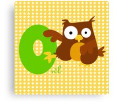 o for owl Canvas Print