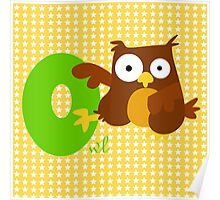 o for owl Poster