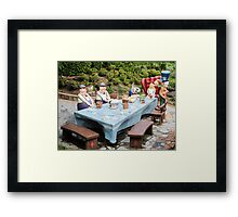 The Mad Hatters Tea Party Framed Print