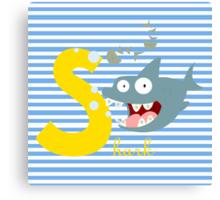 s for shark Canvas Print