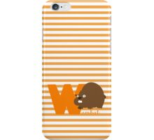 w for wombat iPhone Case/Skin