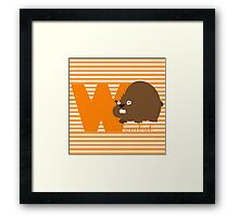 w for wombat Framed Print