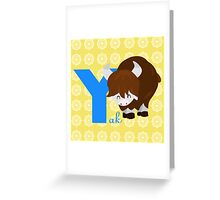 y for yak Greeting Card