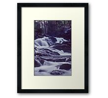 Waterfall at Dusk Framed Print