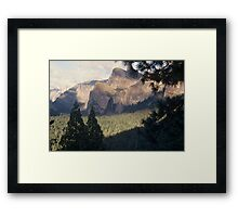 Yosemite Valley and Forest Framed Print