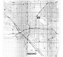 Fresno Map Gray Poster