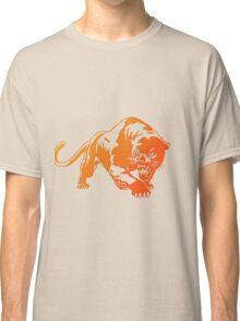 Orange Transparent Tiger with blue eyes Classic T-Shirt