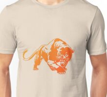 Orange Transparent Tiger with blue eyes Unisex T-Shirt