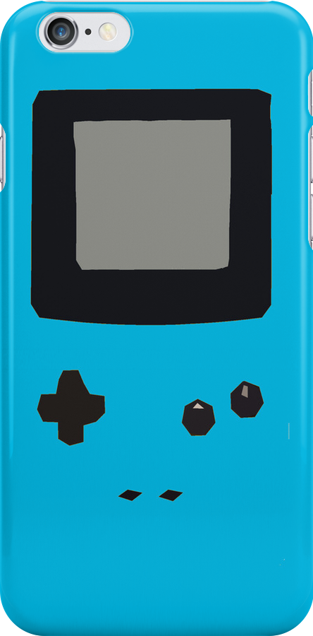 Blue Gameboy Colour iPhone Case by Jake Driscoll