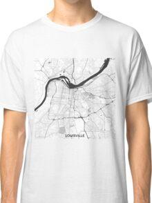Louisville Map Gray Classic T-Shirt