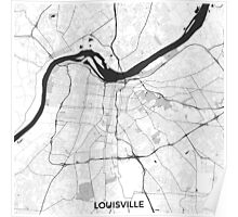 Louisville Map Gray Poster
