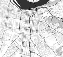Louisville Map Gray Sticker