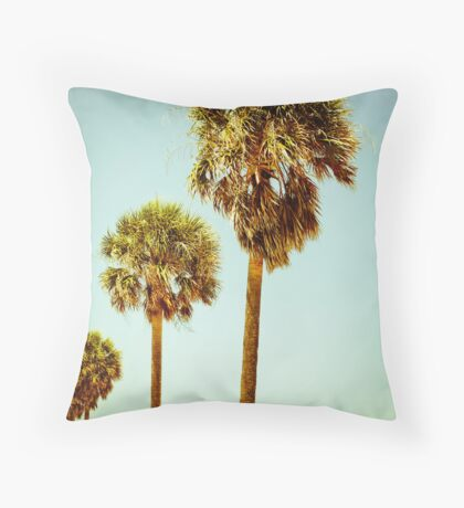 Clearwater Palm Trees Throw Pillow