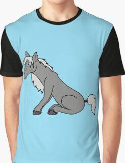 Gray Horse Graphic T-Shirt