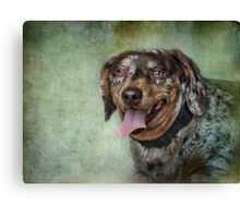 I am saying cheese! Canvas Print